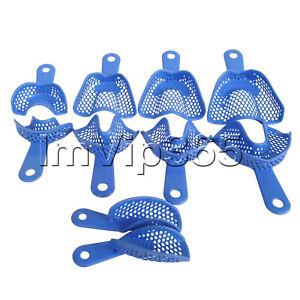10-Pcs-1-Set-Plastic-Steel-Dental-Impression-Tray-Denture-Instruments-Materials