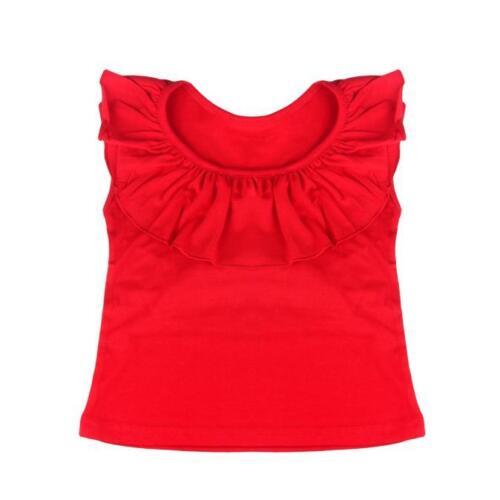 2 pcs//Set Kids Girls Sleeveless Tops Short Floral Dress Skirt Outfits Clothes