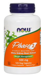 Phase 2 500 mg Starch Blocker Now Foods 120 VCaps