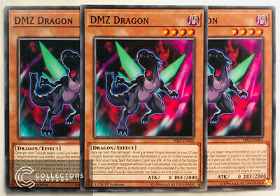 X3 YUGIOH DMZ DRAGON RIRA-EN005 COMMON 1ST NM