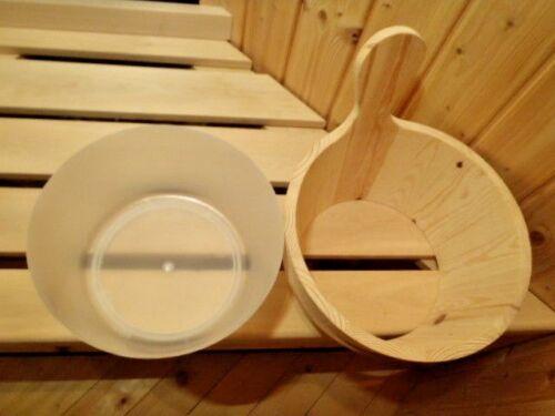 inserto erbe arrostirono Wen Sauna PORTAVASO 4l Sauna Secchio Sauna in legno portavasi-Secchio Kelle