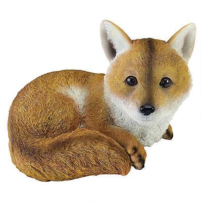 Fox Statue Sly Countryside Foxes Sculpture Yard Garden Decor