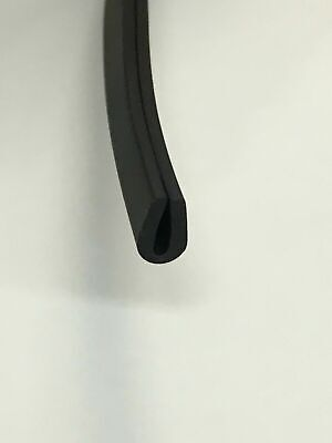 Rubber U channel edge trim seal black 7 MM x 5 MM flexible