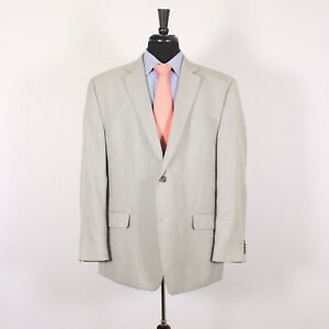 Michael Kors 46R Gray Solid Polyester Two Button Sport Coat Blazer Jacket