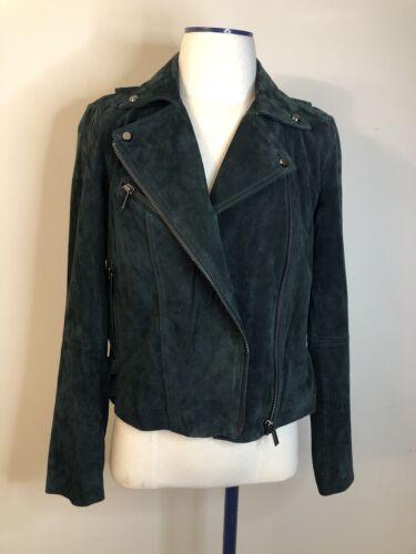 Bagatelle Heritage Suede Leather Moto Jacket Size
