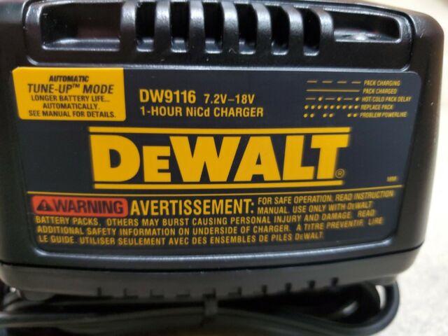 Dewalt DW9116 7.2V-18V NiCd Battery Charger for DC9091 DC9098 DW9062