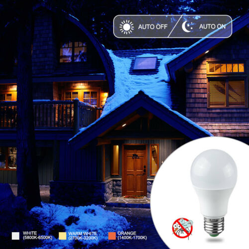 10 Watt LED Light Bulb E27 Automatic Dusk To Dawn Sensor MSC Security Lamp