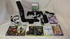 Microsoft Xbox 360 S with Kinect 250GB Console, 2 Controllers and 8 Games L@@K!