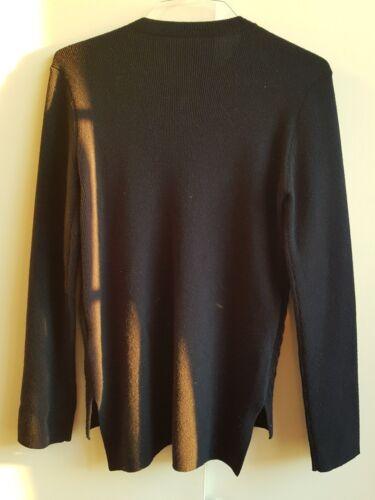 Mulberry Navy Dark Størrelse L Jumper 100 550 Ull Autentisk Rrp Ladies Cashmere UwFWa5