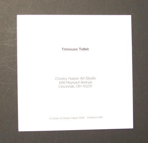 "Charles//Charley Harper Notecards /""Titmouse Tidbit/"" 4 Pack w//Envelopes"