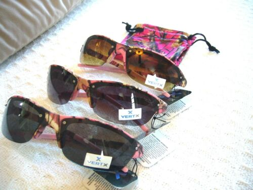 PINK CAMO SUNGLASSES 4 KIDS OR ADULTS W// SMALL FACES W// FREE MATCHING CASE~UV400