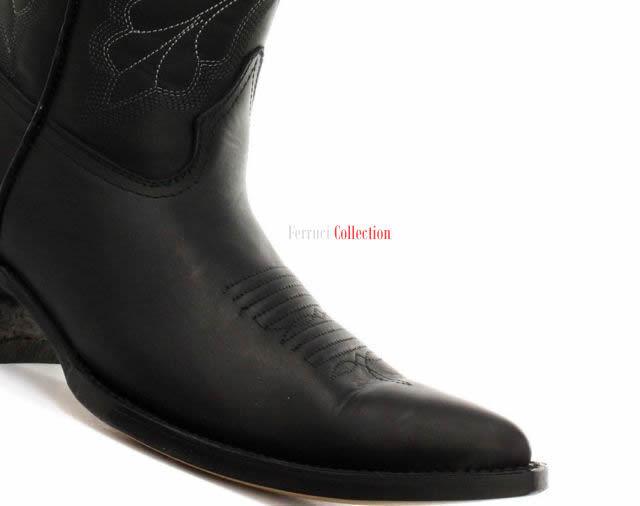 Grinders Leder Damen Dallas Schwarz Aus Echtem Leder Grinders Stiefel Cowboy Western Wadenlang a50796