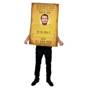 Cowboy wanted poster funny wild west fancy dress costume stag party festival 887513008194 ebay - Wild west funny ...