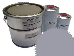 3 Liter Set 2K Floor Coating Ral 7004 Signal Grey Shine Floor Color Workshop