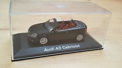 1/43 Audi A3 Cabriolet Noire 2008 Minichamps