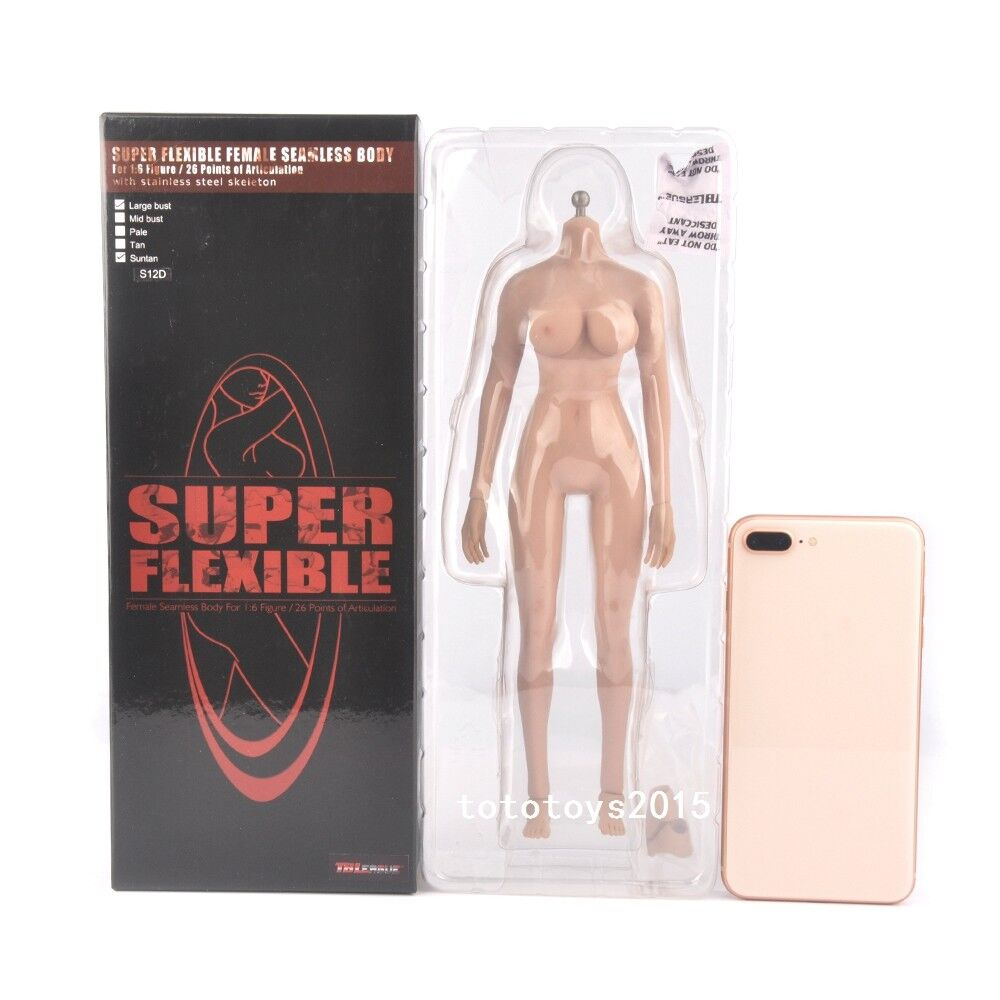 TBLeague 1/6 Scale Suntan Large Breast Female Figure Seamless Body Model S12D