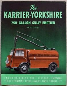 KARRIER-YORKSHIRE 750 GALLON GULLY EMPTIER Sales Brochure c1949 #1317A