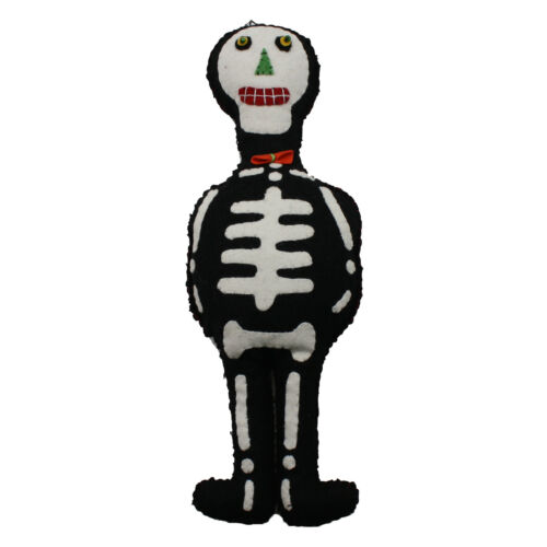 "12/"" Plush Doll HALLOWEEN Vintage Style Decor Retro Skeleton Cat Pumpkin Devil"