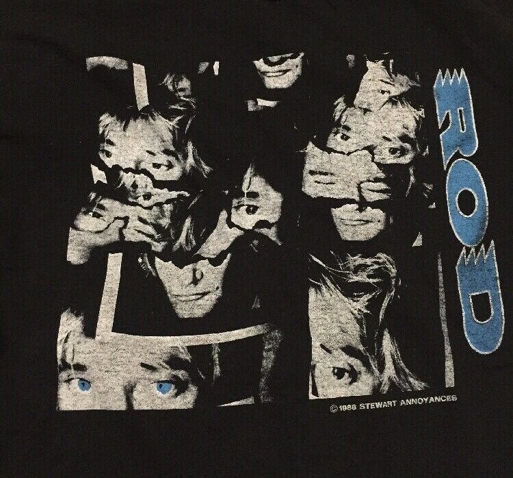 Vintage 80s 1988 Rod Stewart Out Of Order Tour T-Shirt Größe Men's XL