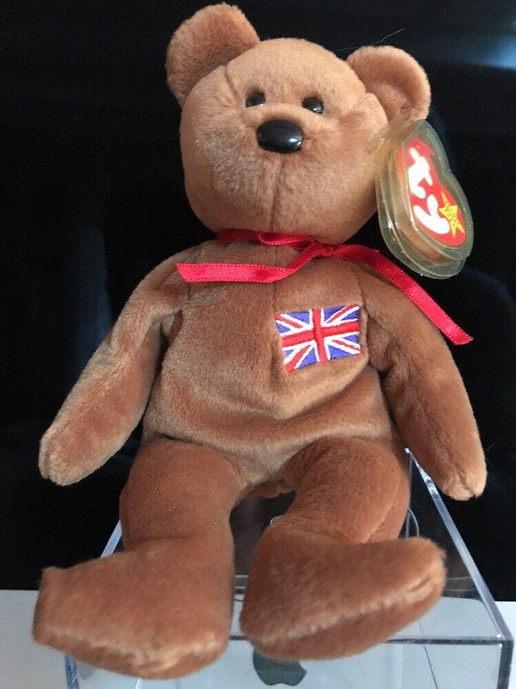 Ty beanie baby britannia, geboren 12-15-97, pvc, hand - made in indonesien, seltene, minze