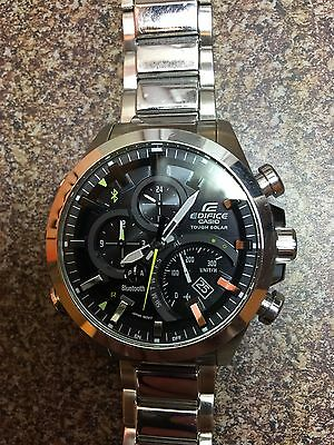 Mens Casio Edifice Tough Solar Bluetooth EQB-500 stainless steel wrist watch