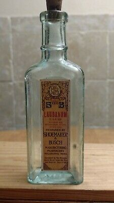 Bottle Laudanum W Opium Shoemaker