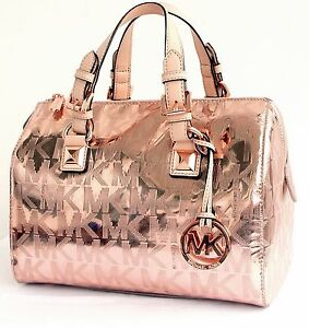 michael kors tasche handtasche bag grayson md satchel signiatur rose. Black Bedroom Furniture Sets. Home Design Ideas