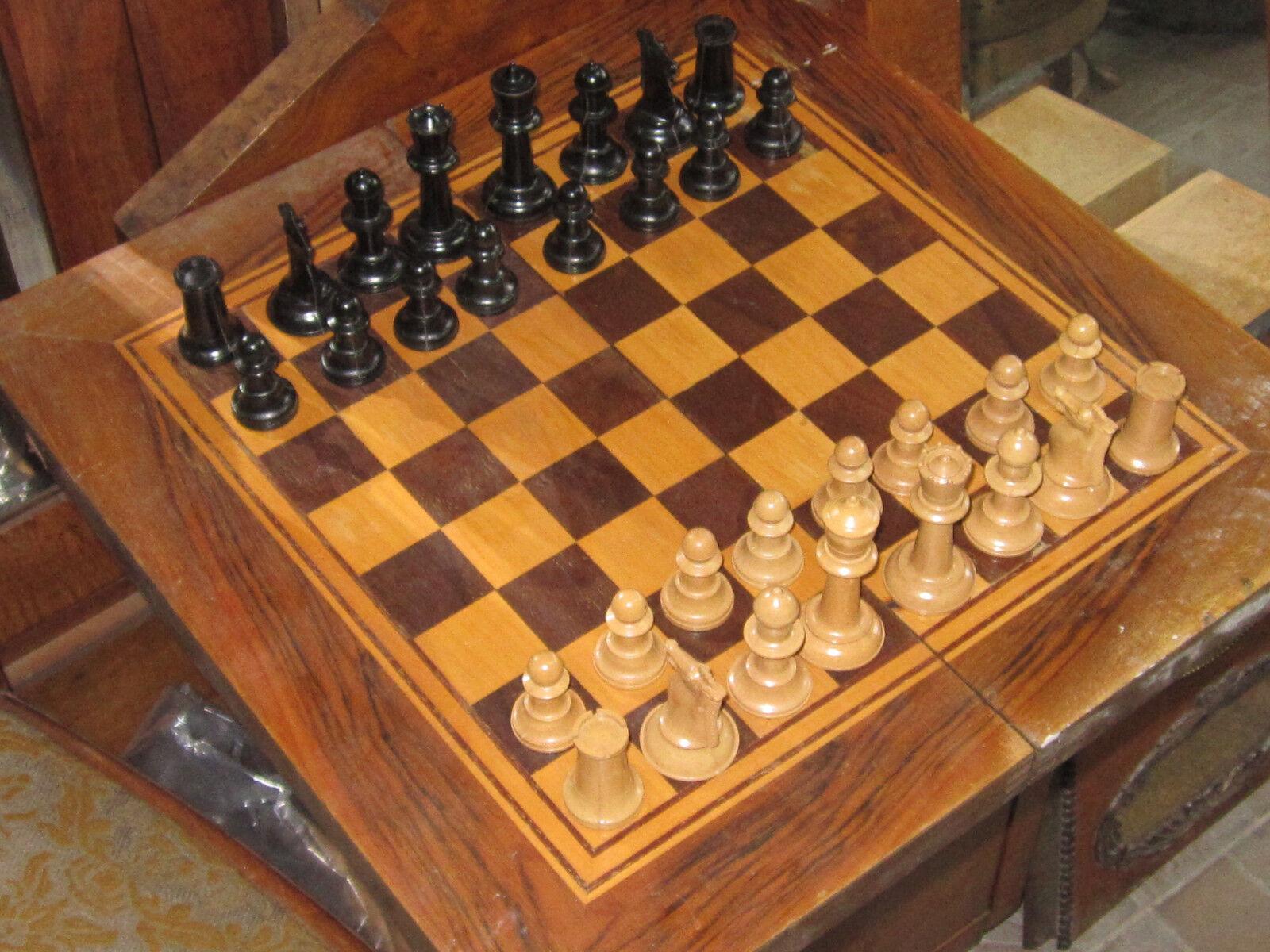RARE gree  Russian  CHESS  Massive Wooden  scatola Full Set 1950's .  garantito