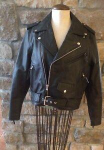 poches noir en Veste à cuir moto Co First Manufacturing Fmc L multiples de 0qaPPw