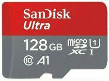 SanDisk 128GB Ultra microSDHC Class10 Speicherkarte mit Adapter