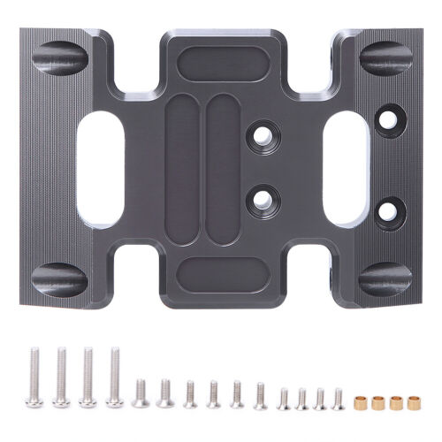 Aluminum Alloy Center Skid Chassis Plate Accessory for AXIAL SCX10 1//10 RC Car