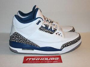8421357ca3ef New Nike Air Jordan III 3 Retro True Blue 2011 Release Version Shoes ...
