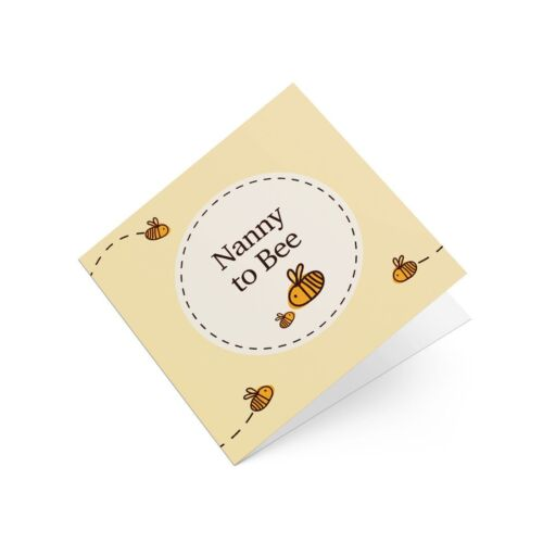 Nanny To Be Bumble Bee Greeting Card Cute Babyshower New Baby Congratulations