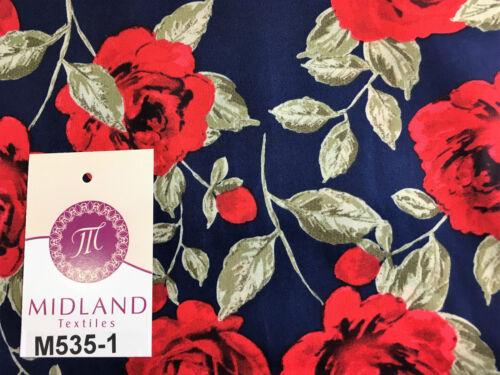 "Vintage floral shabby chic rose printed 100/% Cotton Poplin fabric 58/"" M535 Mtex"