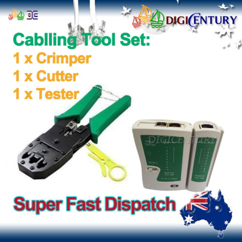 RJ11 LAN Ethernet Cable Tool Set Cat6 5e Crimper for RJ45 Phone Line Tester