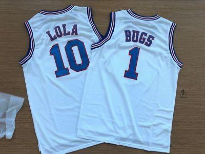 Youth Basketball Jerseys #10 Lola Space Jam Shirts for Boys//Girls White, Youth X-Large