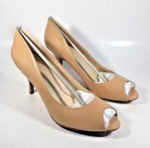 60489e8067 M2181 New Women's Nine West Orissa Natural Leather Open Toe Pump 12 ...