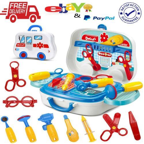 Kids Little Doctor Medical Set Children Nurse Portable Play Education Bag New