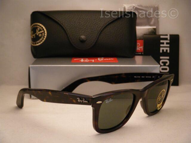 d2ce6a2f91 ... discount ray ban wayfarer rb2140 902 tortoise frame green classic 50mm  lens sunglasses 1dad3 25da4