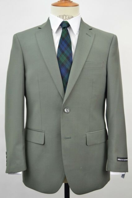 Men's Olive 2 Button Slim Fit Suit SIZE 42R NEW
