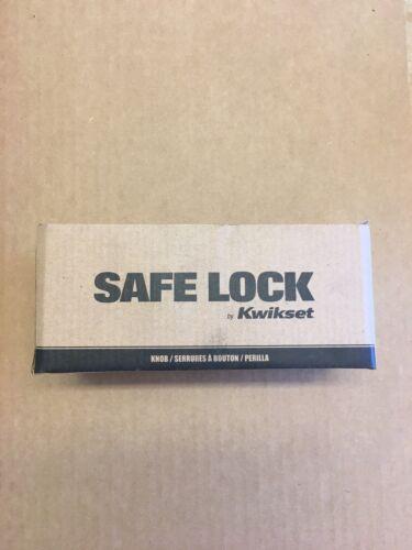 Kwikset Safe Lock Regina Sk5000 RG 15 Keyed Entry Knob Lock in Satin Nickel