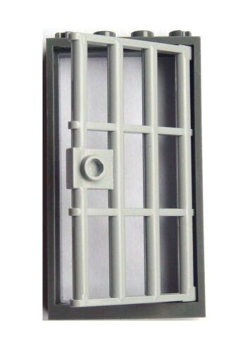 Lego 10x Tür mit Rahmen Zarge dunkelgrau Kellertür Gefängnistür hellgrau Tür Neu
