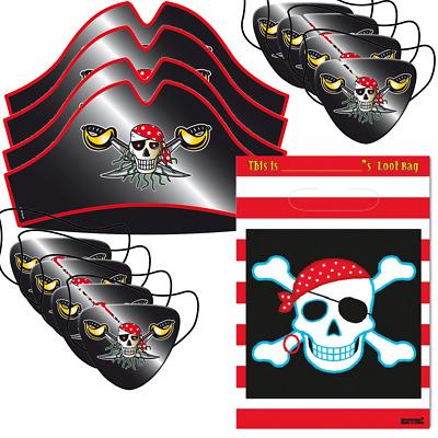 Piraten Geschenktüten 6 Stk Pirat Papiertüten Kinder Geburtstag Feier Party
