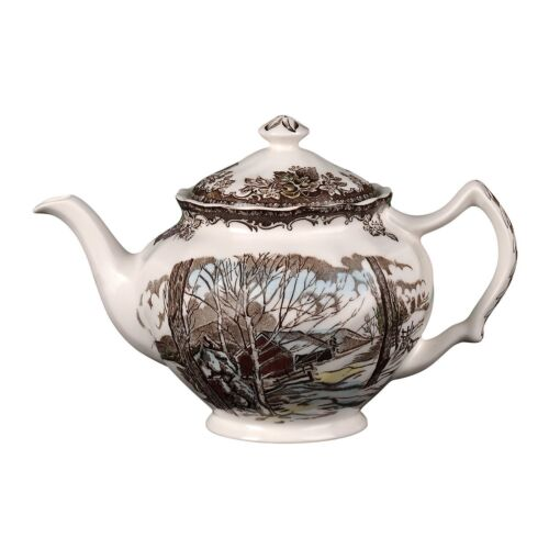 Johnson Brothers Friendly Village Teapot  Tea Pot COVERED SUGAR AND CREAMER NEW
