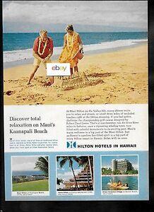 Image Is Loading Hilton Hotels Hawaii Sandcastles On Kaanapali Beach Maui