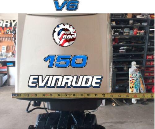 Evinrude V6 E-Tec USA Tear 115-300 BLUE  Decal Kit