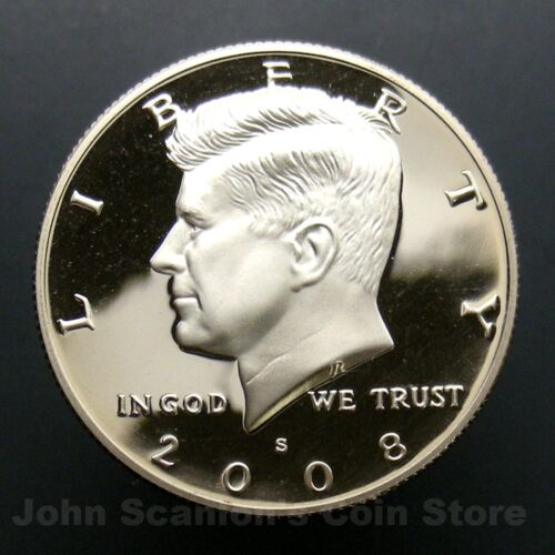 2008-S Kennedy Half Dollar Coin Gem Proof Deep Cameo U.S
