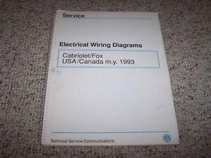 1993 vw volkswagen cabriolet \u0026 fox electrical wiring diagrams