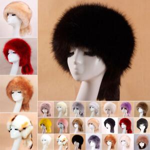 Women Russia Fur Hat Boy Girl Real Fox Fur Hat Earmuff Warm Fur Hat ... e63d4011bf