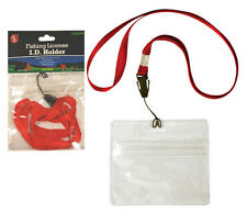 """Fishing License ID Holder with 32"""" Lanyard w/ Quick Release Clip  3-3/4""""x2-1/4"""""""